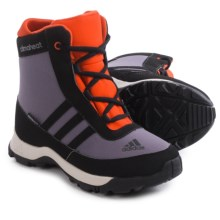 adidas Adisnow Snow Boots - Waterproof, Insulated (For Little and Big Kids) in Ash Purple/Black/Bold Orange - Closeouts