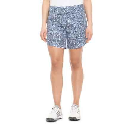 adidas Advance Deco Print Golf Shorts (For Women) in Night Marine - Closeouts