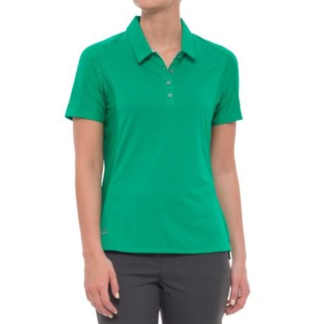 adidas Advantage Golf Polo Shirt - Short Sleeve (For Women) in Core Green