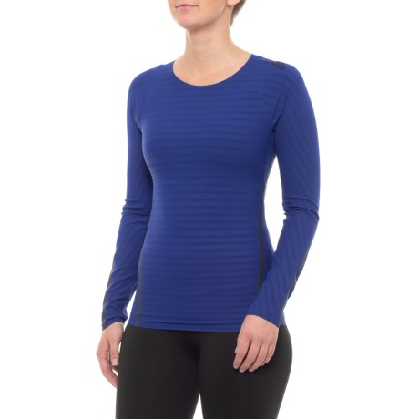 a112ef28a5b57 adidas Alphaskin 360 T-Shirt - Long Sleeve (For Women) in Mystery Ink