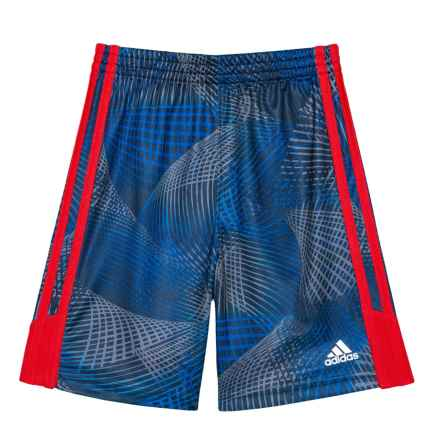 adidas Amplified Net Shorts (For Toddlers and Little Boys) in Blue - Closeouts