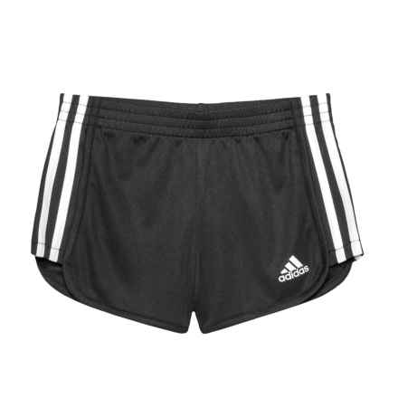 adidas Around-the-Block Mesh Shorts (For Little Girls) in Black - Closeouts