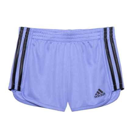 adidas Around-the-Block Mesh Shorts (For Little Girls) in Medium Purple - Closeouts