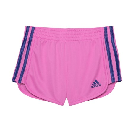adidas Around the Block Mesh Shorts (For Toddlers and Little Girls) in Medium Pink