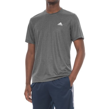adidas Athletic T-Shirt - Short Sleeve (For Men) in Black Heather