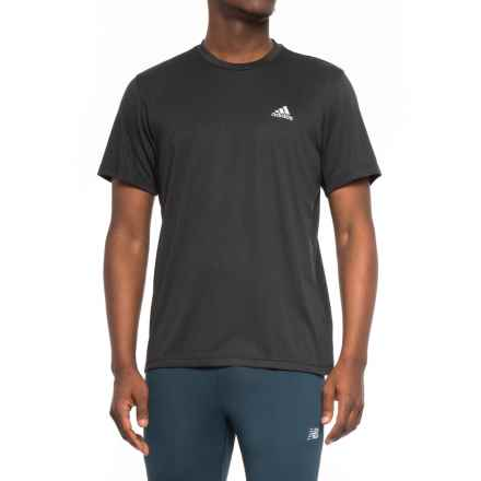 adidas Athletic T-Shirt - Short Sleeve (For Men) in Black - Closeouts