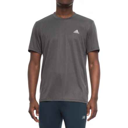 adidas Athletic T-Shirt - Short Sleeve (For Men) in Dark Grey Heather - Closeouts