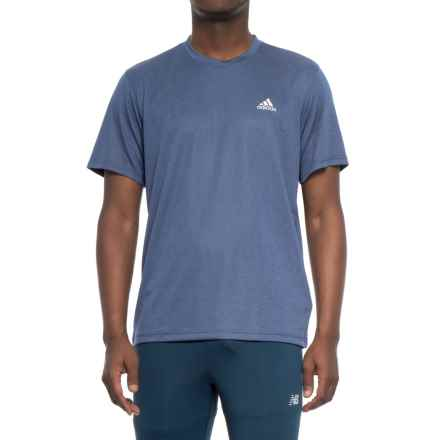 adidas Athletic T-Shirt - Short Sleeve (For Men) in Mystery Blue - Closeouts