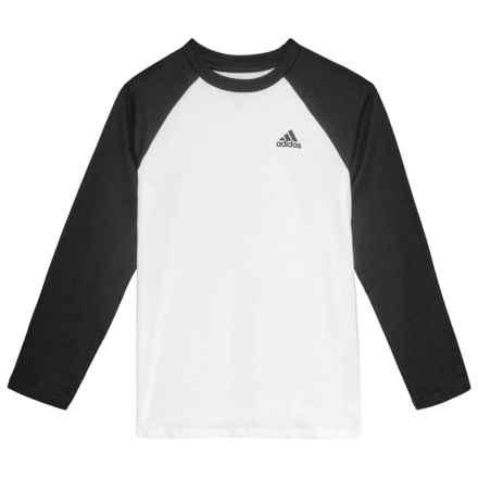 adidas Athletics Baseball T-Shirt - Long Sleeve (For Big Boys) in White 12a71d32647