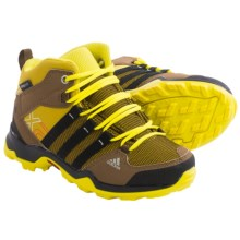 adidas AX 2.0 Mid CP Hiking Shoes - Waterproof (For Little and Big Kids) in Raw Ochre/Black/Bright Yellow - Closeouts