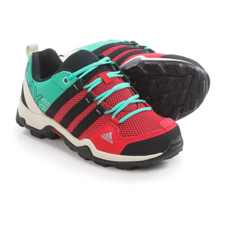 adidas AX2 Hiking Shoes (For Little and Big Kids) in Ray Red/Black/Shock Mint