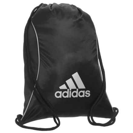 adidas Block II Sackpack in Black/Silver - Closeouts