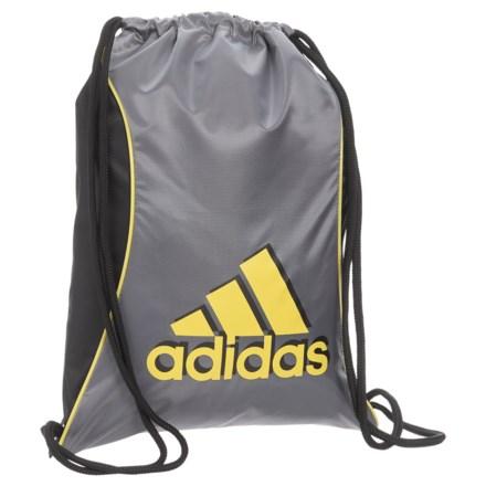 adidas Block II Sackpack in Grey Black Shock Yellow - Closeouts d05fa27d56662