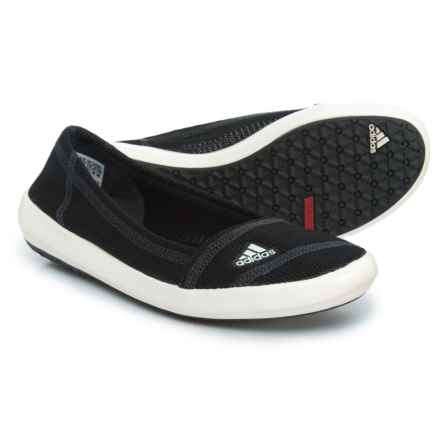 adidas Boat Sleek Shoes - Slip-Ons (For Women) in Black/Chalk/Dark Shale - Closeouts