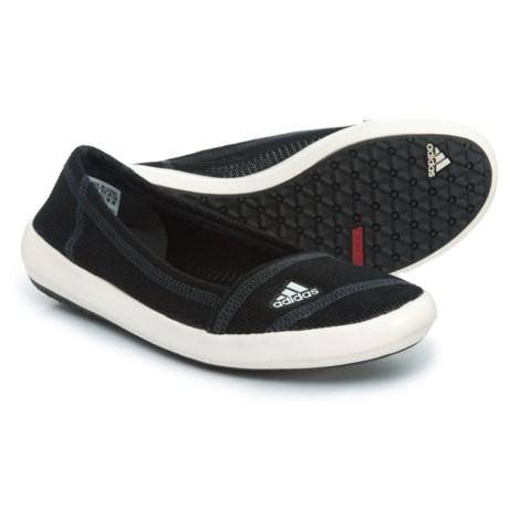 adidas Boat Sleek Shoes - Slip-Ons (For Women) in Black/Chalk/Dark Shale