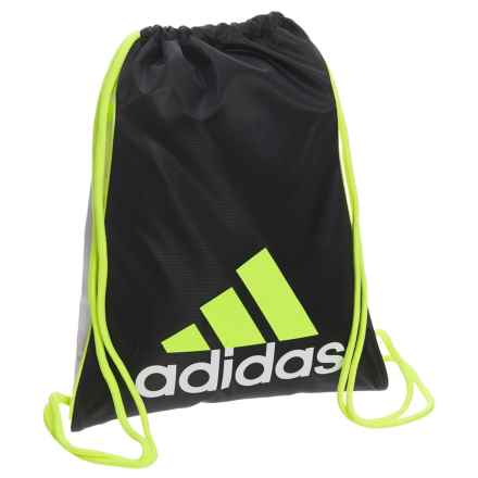 adidas Burst Sackpack in Black/White/Solar Yellow - Closeouts