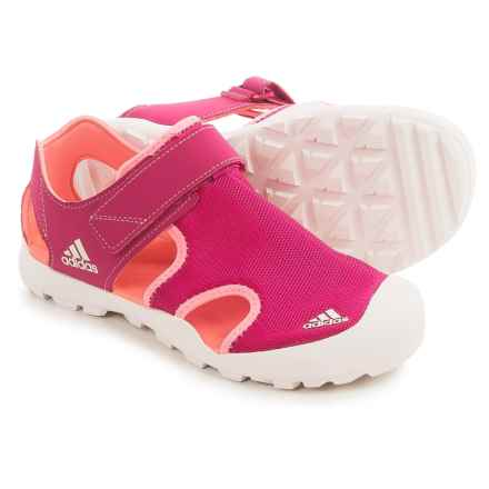 adidas Captain Toey Sport Sandals (For Little and Big Kids) in Bold Pink/Sun Glow/Chalk White - Closeouts