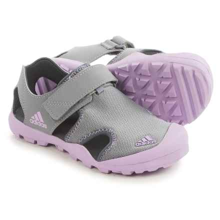 adidas Captain Toey Sport Sandals (For Little and Big Kids) in Grey/Purple/Onix - Closeouts