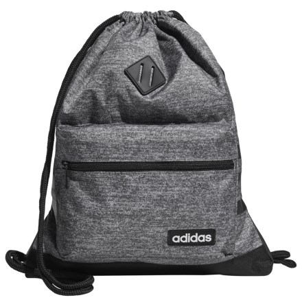 9b0c214032f2 adidas Classic 3S Sackpack in Onix Jersey Black - Closeouts