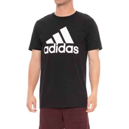 adidas Classic T-Shirt - Short Sleeve (For Men) in Black - Closeouts