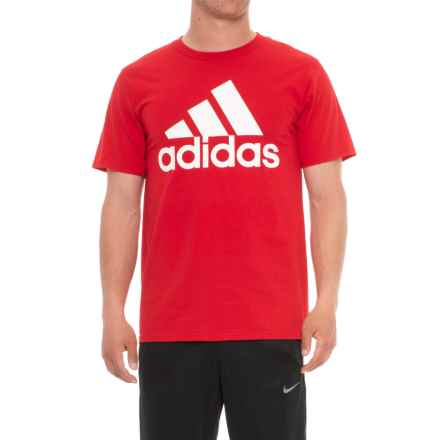 adidas Classic T-Shirt - Short Sleeve (For Men) in Scarlet - Closeouts