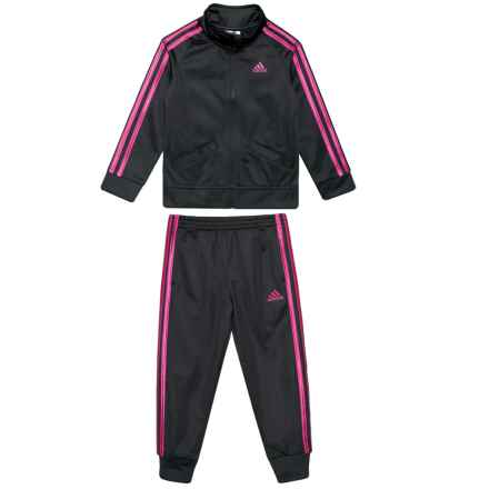 adidas Classic Tricot Track Jacket and Pants Set (For Toddler Girls) in Ak01 - Closeouts