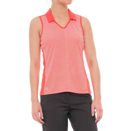 adidas ClimaChill® Golf Polo Shirt - Sleeveless (For Women) in Easy Coral - Closeouts