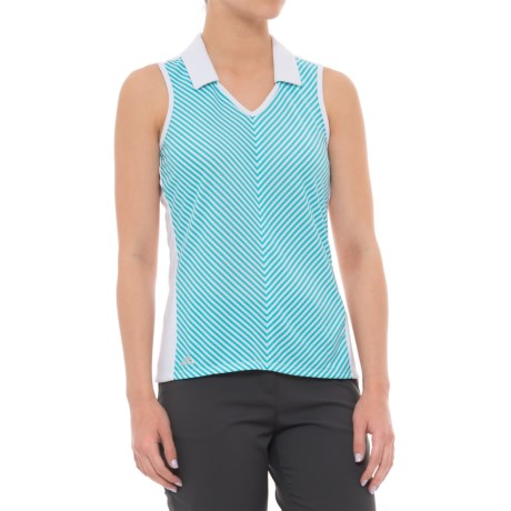 adidas ClimaChill® Golf Polo Shirt - Sleeveless (For Women) in White