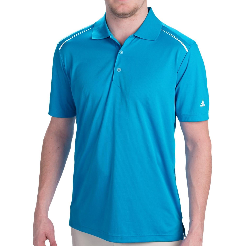 Adidas Climachill Seam Print Polo Shirt Short Sleeve