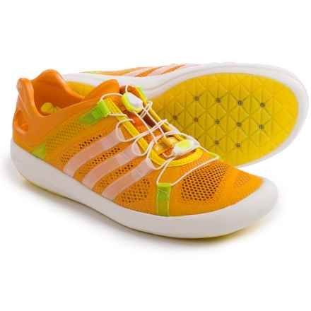 adidas ClimaCool® Boat Breeze Water Shoes (For Men) in Eqt Orange/Chalk White/Eqt Yellow - Closeouts