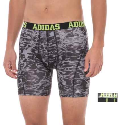adidas ClimaCool® Micro Mesh Graphic Boxer Briefs - 2-Pack (For Men) in Black Slime Ponder - Closeouts