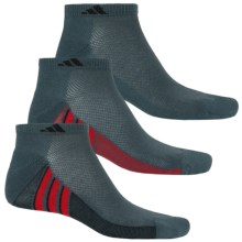 adidas ClimaCool® Superlite Low-Cut Socks - 3-Pack, Ankle (For Men) in Bold Onix/Black/Solar Red - Closeouts