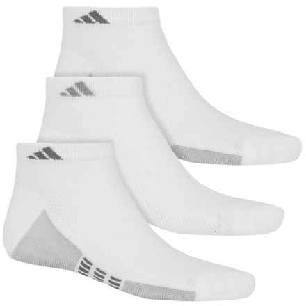 adidas ClimaCool® Superlite Low-Cut Socks - 3-Pack, Ankle (For Men) in White/Aluminum 2/Medium Lead - Closeouts