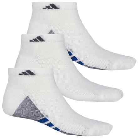 adidas ClimaCool® Superlite Low-Cut Socks - 3-Pack, Ankle (For Men) in White/Granite/Bold Blue - Closeouts