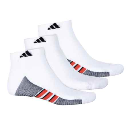 adidas ClimaCool® Superlite Low-Cut Socks - Ankle, 3-Pack (For Men) in White/Energy Red/Black - Closeouts