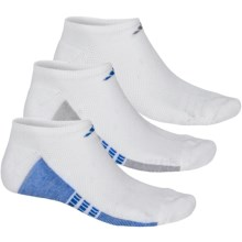 adidas ClimaCool® Superlite No-Show Socks - 3-Pack, Below the Ankle (For Men) in White/Aluminum 2/Blue Beauty - Closeouts