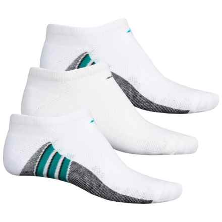 adidas ClimaCool® Superlite No-Show Socks - 3-Pack, Below the Ankle (For Men) in White/Eqt Green/Black - Closeouts