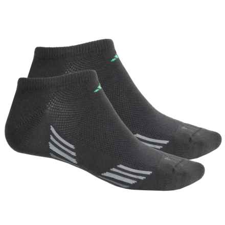 adidas ClimaCool® X II No-Show Socks - 2-Pack, Below the Ankle (For Men) in Dark Grey/Flash Green/Vista Grey/Light Onix - Closeouts