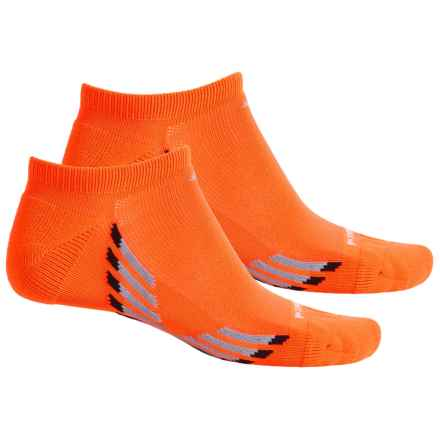 adidas ClimaCool® X II No-Show Socks - 2-Pack, Below the Ankle (For Men) in Solar Orange/Grey/Black/Onix - Closeouts