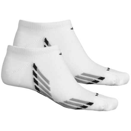 adidas ClimaCool® X II No-Show Socks - 2-Pack, Below the Ankle (For Men) in White/Light Onix/Onix/Black - Closeouts