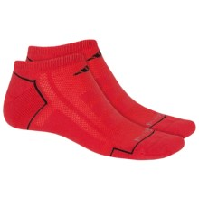adidas ClimaCool® X II No-Show Socks - 2-Pack (For Men) in Hi Res Red/Black/Mid Grey - Closeouts