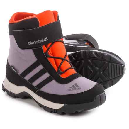 adidas ClimaHeat® adiSnow ClimaProof® Snow Boots - Waterproof, Insulated (For Big Kids) in Ash Purple/Black/Bold Orange - Closeouts