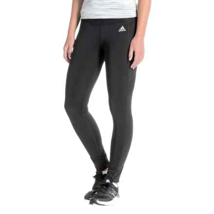 adidas ClimaHeat® Running Tights (For Women) in Black - Closeouts