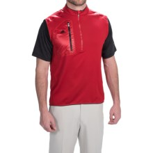 adidas ClimaHeat® Vest - Zip Neck (For Men) in Power Red/Black - Closeouts