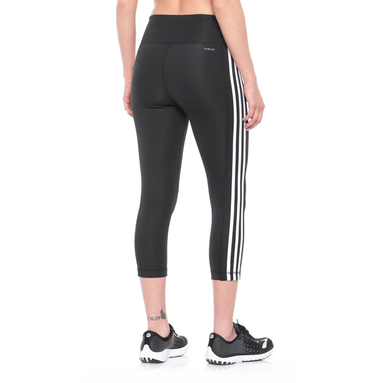 a2d96ca827996 adidas ClimaLite® 3-Stripes Crop Tights (For Women) - Save 45%