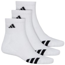 adidas ClimaLite® Cushioned Athletic Socks - 3-Pack, Ankle (For Men) in White/Black - Closeouts
