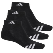 adidas ClimaLite® Cushioned Athletic Socks - 3-Pack, Below the Ankle (For Men) in Black/White - Closeouts