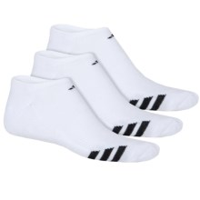 adidas ClimaLite® Cushioned Athletic Socks - 3-Pack, No Show (For Men) in White/Black - Closeouts