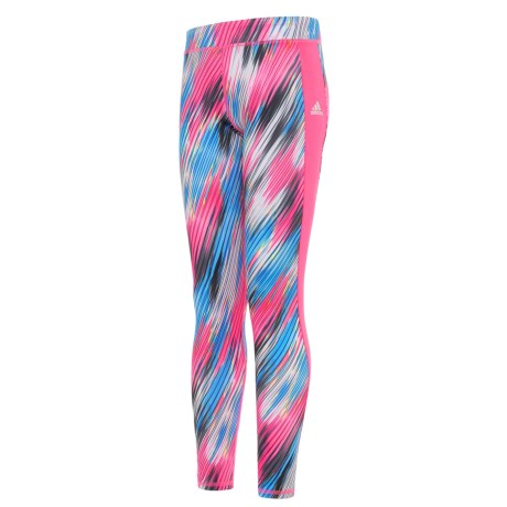 adidas ClimaLite® Go with the Flow Leggings (For Big Girls) in Pink/Blue Print