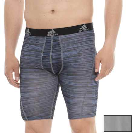 """adidas ClimaLite® High-Performance 9"""" Boxer Briefs - 2-Pack, Black Looper-Grey Sport (For Men) in Black Looper/Grey - Closeouts"""